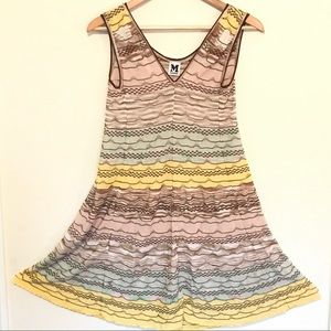 M Missoni short yellow sleeveless dress size small